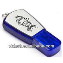 Novelty simple USB flash drive waterproof U disk free logo