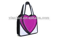 new arrival 2014 summer design 2d/3d cartoon lovely girl's handbag,heart shape 3D/2D nylon bag (BLQT022)