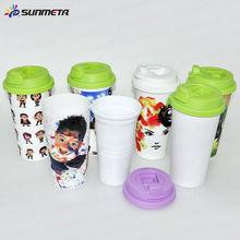 Sunmeta New plastic double wall travel cup mug---manufacturer