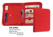 Portflio padfolio Ring binder 2 rings with zipper briefcase bags portfolio organizer notebook size A4/A5 CR-A401