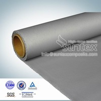32 oz silicon coated fireproof insulation glass fabric