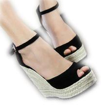 2014 women fashion 2012 new flat wedges lady shoes