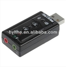 External USB sound card 7.1 channel