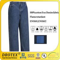 100% cotton denim flame Retardant pants for welding