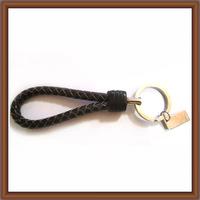 Braided Genuine Leather KeyChain & Steel