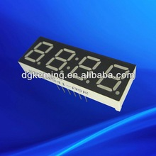 0.39 inch red four digit 7 segment led time temperature display