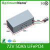 low speed 72v 50ah electric vehicle battery