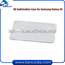 sublimation 3d phone cover case for samsung s5