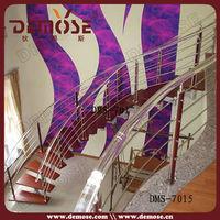 modern curved steel wood stairway/ladder