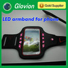 2014 new products led armband for mobile phone LED sport armband for any phone Glow in the dark armband