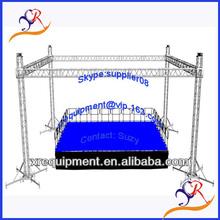 Aluminum frame stage with plywood platform,modular aluminum stage