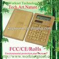 Top de venda quente 8 dígitos bamboo calculadora solar ,
