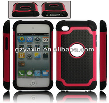 3 IN 1 Hybrid Layer Football design defender case for Apple Ipod Touch 4G,smart case for ipod touch 4