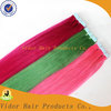 Pink,Green,Blue,Red Remy Factory Hot Sale Tape Hair Extensions