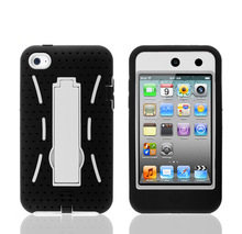 Many Colors Robot Protective Silicone+PC hard case for ipod touch 4,plastic hard case for ipod touch 4