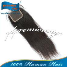 European virgin Hair Natural Color Light Yaki Silk Base Lace Closure Pieces