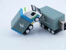 Special gift, soft PVC truck shape USB flash drive, memory stick