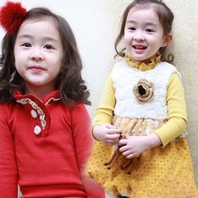 High quality of the new solid color girl Children's cotton T-shirt branded children's clothing wholesale