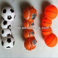 funny squeaky vinyl dog toy football