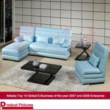 European style sofa imported top grain leather+PVC