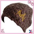clássico de lã preta neutra maciça dos homens beanie feito malha chapéu do inverno