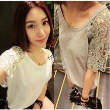 Lady Summer Lace Hollow Out Split blouse & top
