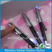 Haute qualité cadeau de noël métal Twist 1 led lumière laser pointe de stylo à bille