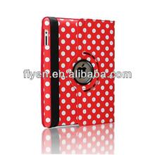hotsale 360 rotating polka dot pu leather case for ipad air 5,For iPad air,for ipad 5 smart magnetic cover