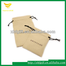 Wholesale suede pouches with logo printed