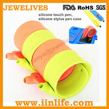 Flexible silicone stylus pen with slap bracelet,silicone pen