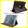 wholesale price swiveling luxury Gird Pattern leather case smart magnetic cover for ipad air 5