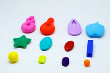 BPA free food grade chewing silicone pendant/soft pendant