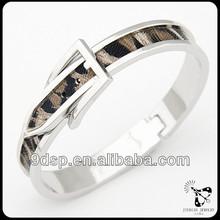 Hot! 2014 Top selling mens heavy metal bracelets half cuff metal and leather bracelet JB0753