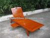 Outdoor wooden ergonomics lounge chair recliner chaise lounge