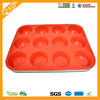 12 Cup Flexible Nonstick Baking Pan Silicone Muffin Tray