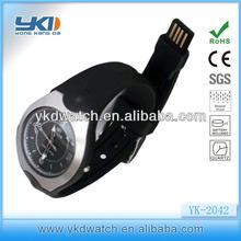 2014 Nice led watch usb flash drive quartz plastic watches for student