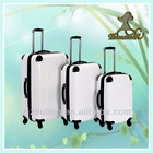 3pcs set abs trolley luggage case, hard travel suitcase factory