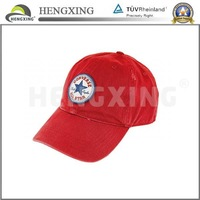 Custom Leather Wool and Suede Red Baseball Hat and Cap