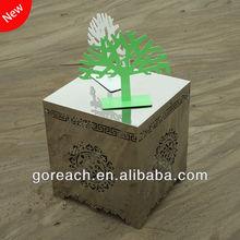 customized decorative embossed white metal furniture