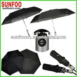 7 ribs automatic black rain umbrella