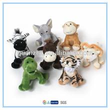 "High quality mini small size jungle plush animal toys 4"""