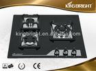 lastest design tempered glass three burners shunde gas hob NKB-AG3H001