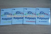 custom flavors 1.5g cloud 9 hypnotic/strawberry/blueberry/juicy fruit botanical potpourri bag wholesale