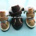 nuevo perro ropa de invierno de piel de perro zapatos de productos para mascotas zapatos de suela de goma de venta al por mayor