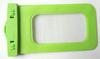 Good quality custom mobile phone waterproof bag for sumsang galaxy logo custom in green pvc