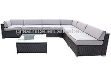 7pcs Outdoor Rattan Sofa Wicker Sectional sofa Garden Furniture W/cushions