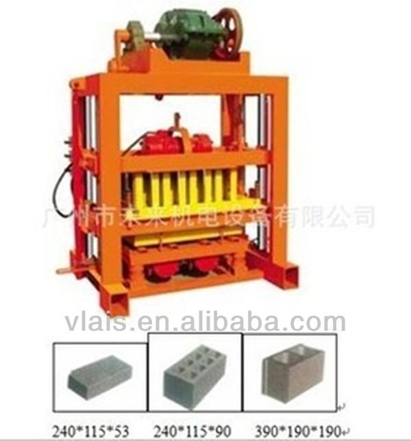 Manual QTJ4-40B concrete block machine,cement brick making machine price in india
