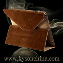 Retro leather stand case for ipad 5,smart leather case for ipad air