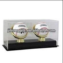 Golf Ball/ Baseball Acrylic Display Case Tennis Wood Base for Collectibles