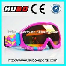 CE standard anti fog anti scratch snowboard goggles snow sport glasses